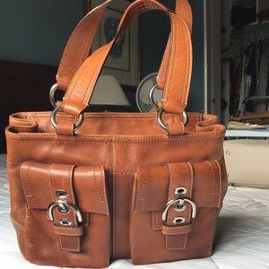 Coach leather sachet bag